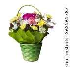 bouquet of flowers on a white... | Shutterstock . vector #363565787