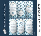 tri fold brochure template with ... | Shutterstock .eps vector #363584777