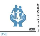 family life insurance sign icon.... | Shutterstock .eps vector #363584807