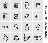 vector line garbage icon set.    Shutterstock .eps vector #363594737