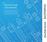 vector technical blueprint of ...   Shutterstock .eps vector #363598943