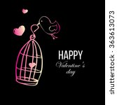 valentine's day greeting card...   Shutterstock .eps vector #363613073