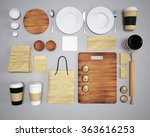 mockup of food and kitchen. 3d | Shutterstock . vector #363616253