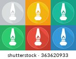 old gas lamp | Shutterstock . vector #363620933