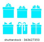 gift boxes icons set aqua with... | Shutterstock .eps vector #363627353