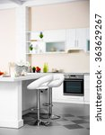 new modern kitchen interior | Shutterstock . vector #363629267