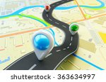 plot a trip route  travel... | Shutterstock . vector #363634997