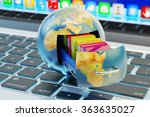 global data storage  cloud... | Shutterstock . vector #363635027