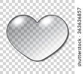 Water Heart Drop. Realistic...