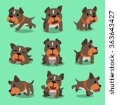 cartoon character pit bull... | Shutterstock .eps vector #363643427