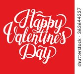 happy valentine's day text.... | Shutterstock .eps vector #363644237