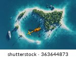 summer tropical island. small... | Shutterstock . vector #363644873
