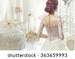 the beautiful woman posing in a ... | Shutterstock . vector #363659993