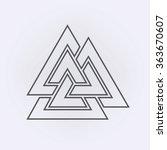 valknut outline symbol . vector ...   Shutterstock .eps vector #363670607