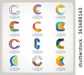 logo element c and abstract web ... | Shutterstock .eps vector #363688163