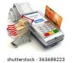 shopping online concept. pos...   Shutterstock . vector #363688223