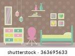 young girl bedroom vector. flat ...   Shutterstock .eps vector #363695633