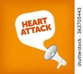 heart attack   Shutterstock .eps vector #363705443