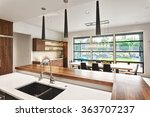 beautiful kitchen interior... | Shutterstock . vector #363707237