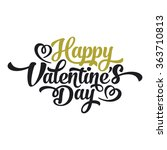 happy valentines day hand... | Shutterstock .eps vector #363710813