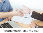 business people shaking hands ... | Shutterstock . vector #363712457