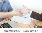 business people shaking hands ... | Shutterstock . vector #363712457