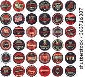 premium quality retro badges... | Shutterstock .eps vector #363716387