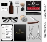 vector barbershop corporate... | Shutterstock .eps vector #363725837