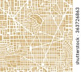 seamless map of the city.... | Shutterstock .eps vector #363726863