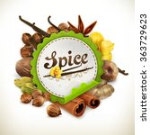 spice  vector label | Shutterstock .eps vector #363729623