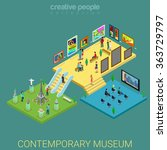 contemporary art meseum exhibit ... | Shutterstock .eps vector #363729797