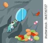 useless drugs flat 3d isometry...   Shutterstock .eps vector #363730727