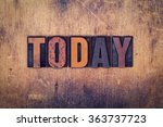 "the word ""today"" written in... | Shutterstock . vector #363737723"
