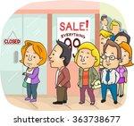 illustration of a long line... | Shutterstock .eps vector #363738677