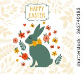 vector easter background with... | Shutterstock .eps vector #363740183