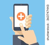 medical app on smartphone...