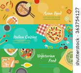 food and cooking banner flat... | Shutterstock .eps vector #363754127