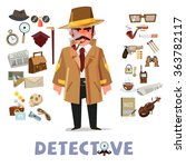 detective character design with ... | Shutterstock .eps vector #363782117