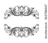 vintage baroque frame scroll... | Shutterstock .eps vector #363788447