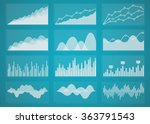 graphs and charts set.... | Shutterstock .eps vector #363791543