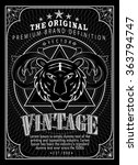 vintage engraving frame border... | Shutterstock .eps vector #363794747