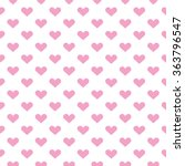 popular love heart decor... | Shutterstock . vector #363796547