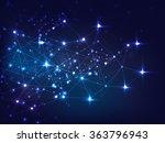 elegant shiny blue hi tech... | Shutterstock .eps vector #363796943