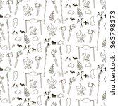 seamless prehistorical pattern...   Shutterstock .eps vector #363798173