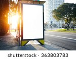 blank lightbox on the bus stop. ... | Shutterstock . vector #363803783