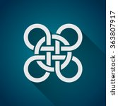 celtic symbol  logo icon design ... | Shutterstock .eps vector #363807917
