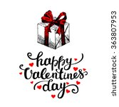 valentines day card on white... | Shutterstock .eps vector #363807953
