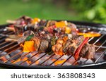 barbecue grill with various... | Shutterstock . vector #363808343