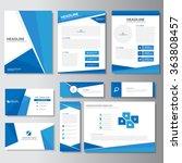blue templates brochure flyer... | Shutterstock .eps vector #363808457