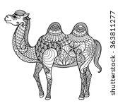 zentangle camel design for...   Shutterstock .eps vector #363811277